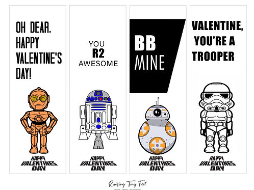 Star Wars Valentines Day Cards Printable