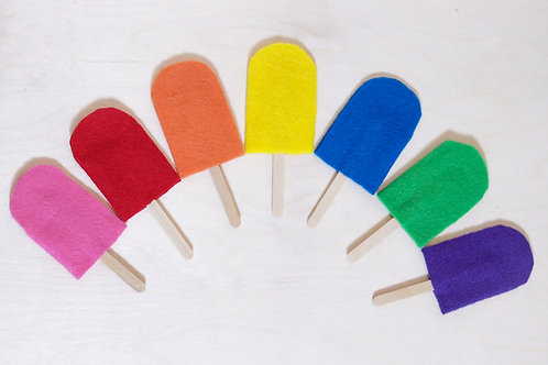 Rainbow Popsicles