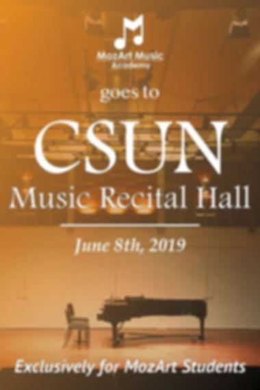 MozArt Student Recital a CSUN