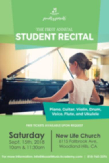 2018 Fall Student Recital