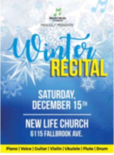 2018 Winter Student Recital