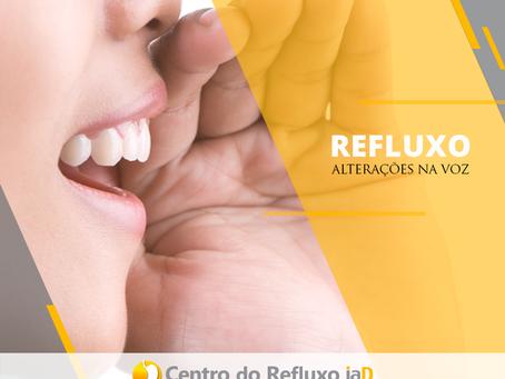 Refluxo pode alterar a voz