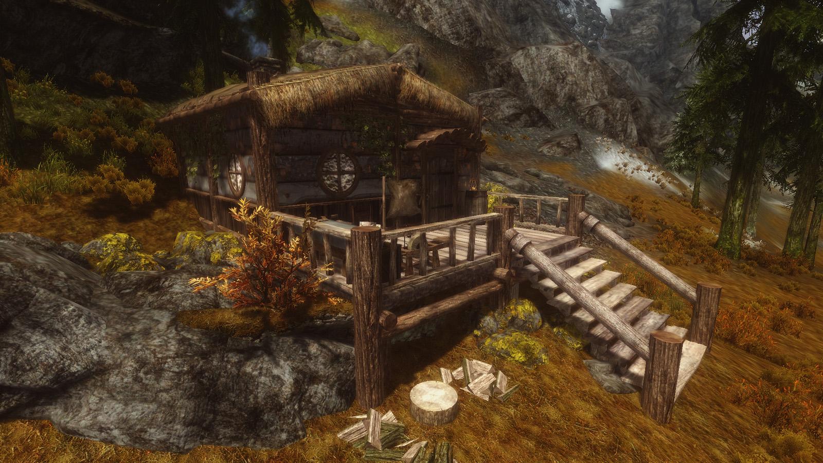 Round Window Cabin