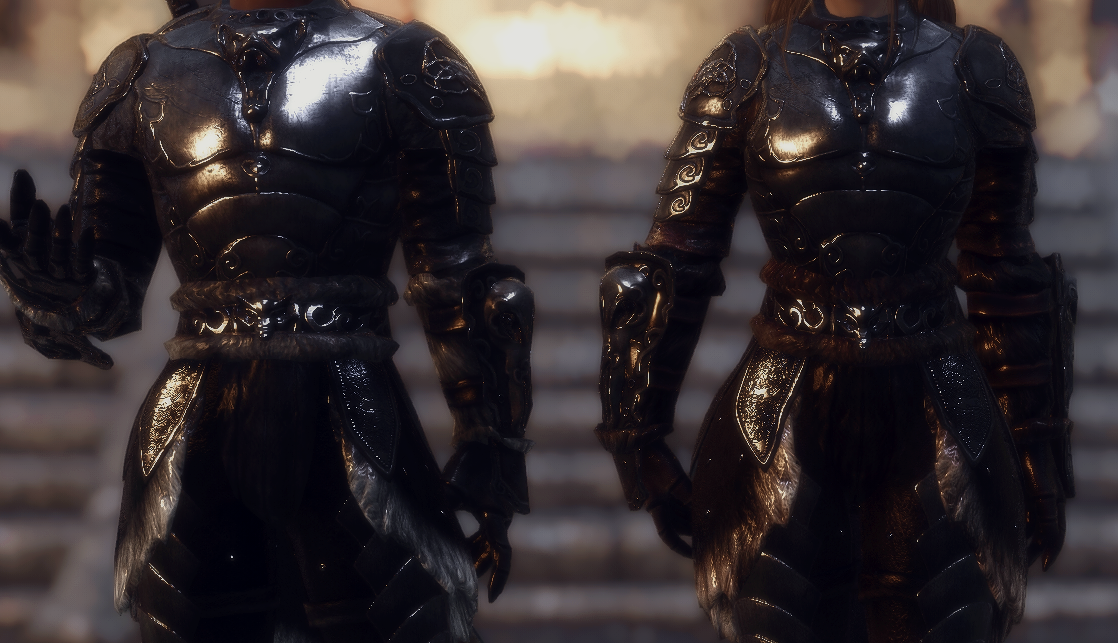 Sleek Wolf Armor for Males and Females (