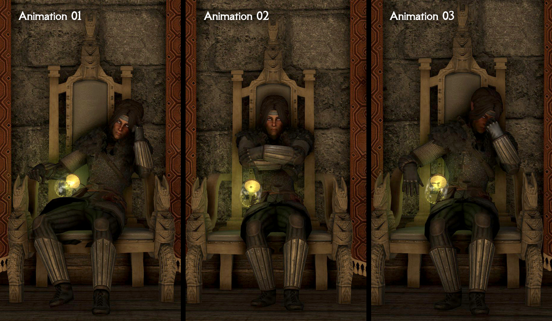 Jarl Sitting Animation Replacer - Vanill