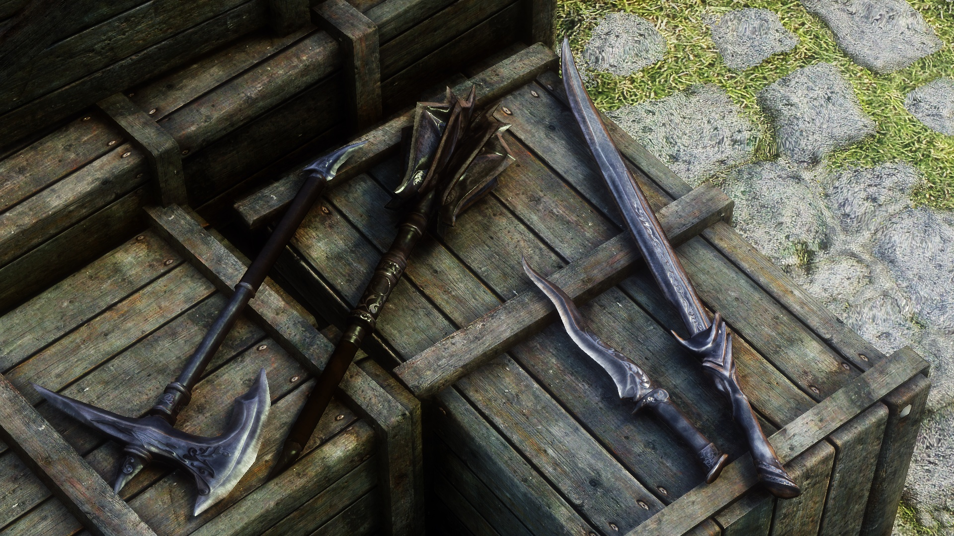 Ebony Weapon Retexture 2017