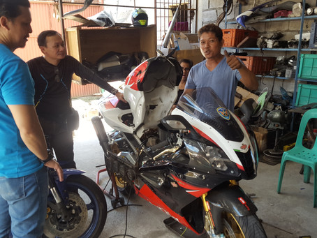 A squeaking CB1300 and a Aprilia that had not been used for 3 years.