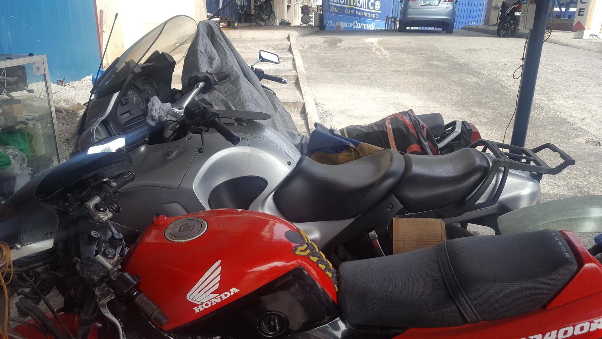 Bikes awaiting spares