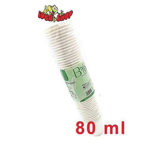 Bicchieri caffè compostabili 80 ml 50 pz.