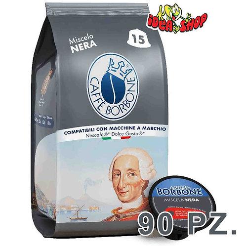 Capsule caffè Borbone compatibili Nescafè dolce gusto miscela nera 90 pz.