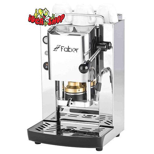 Faber slot pro total inox, macchina caffè a cialde ese 44. +vaporizzatore