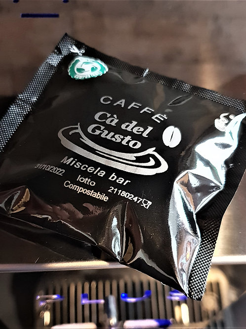 Caffè cà del gusto 300 cialde in carta compostabili miscela bar