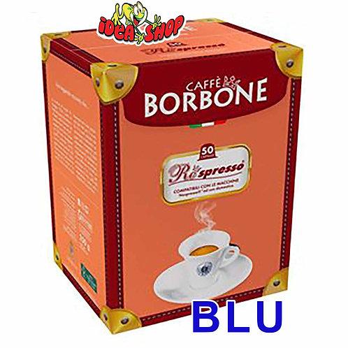 Capsule caffè Borbone compatibili Nespresso blu 50 pz.