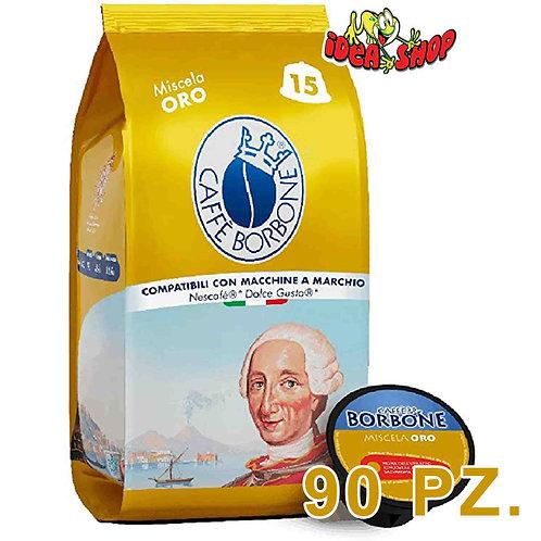Capsule caffè Borbone compatibili Nescafè dolce gusto miscela oro  90 pz.