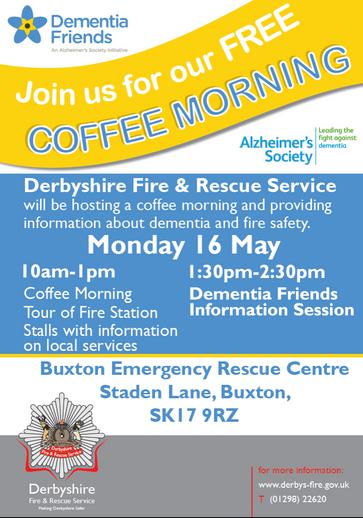 Free Coffee Morning, Dementia Awareness Week