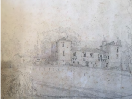 Elévation côté jardin, 1854