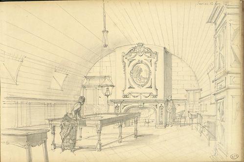 La salle de billard, 1880