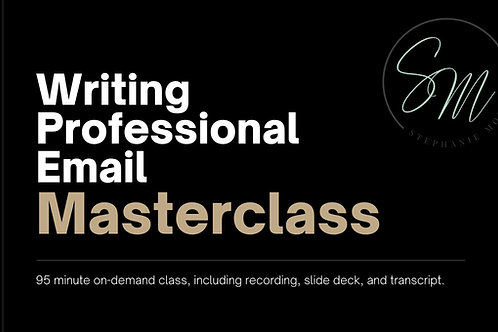 Writing Professional Email On-Demand Masterclass