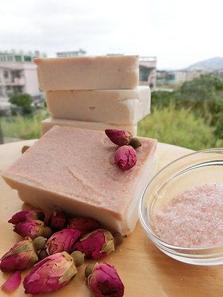 玫瑰鹽磨砂手工皂工作坊 (Rose salt scrub soap workshop)