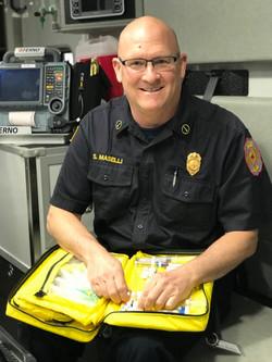 Lieutenant Medic Steve Maselli performs daily drug checks
