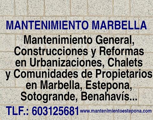 MANTENIMIENTO MARBELLA www.mantenimiento