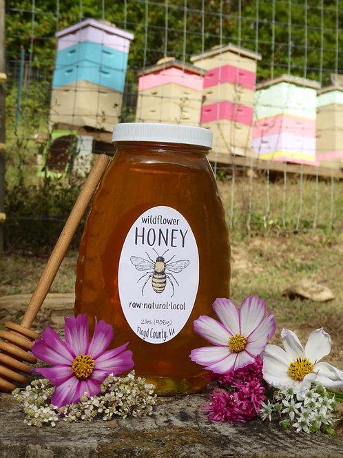 Pure Raw Wildflower Honey- 2 lbs bottle