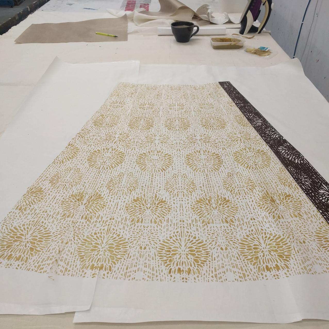 SD process Printing skirt section