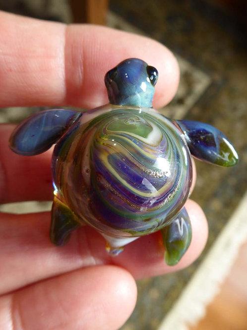 Lampwork Turtle Pendant #3