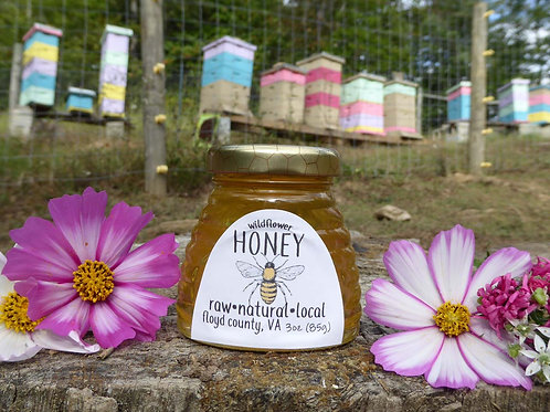 Pure Raw Wildflower Honey- 3 oz sample jar