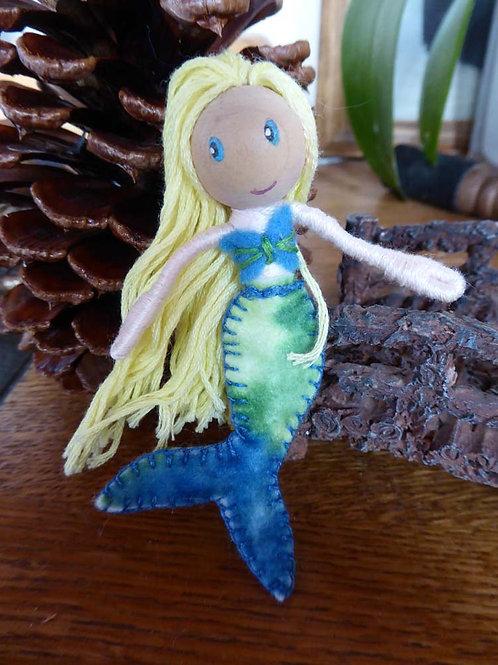 Mermaid Bendy Doll- Yellow hair