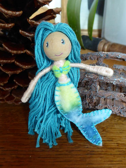 Mermaid Bendy Doll- blue hair