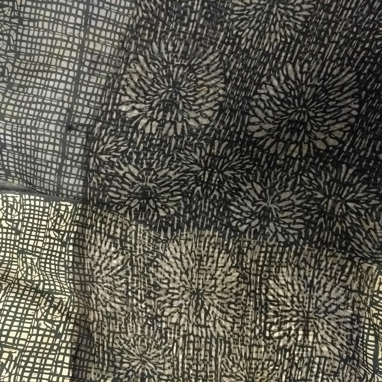 SD work Layered silk organza