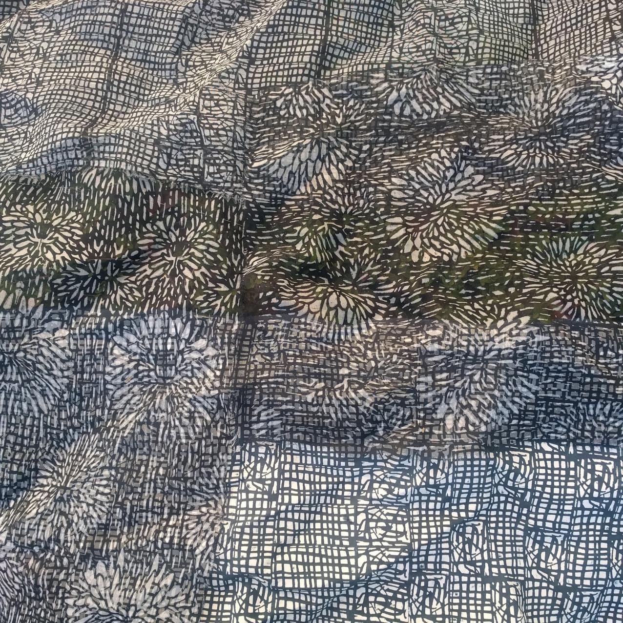 SD work Layered transparent silks