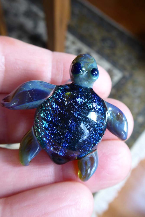 Lampwork Turtle Pendant #2