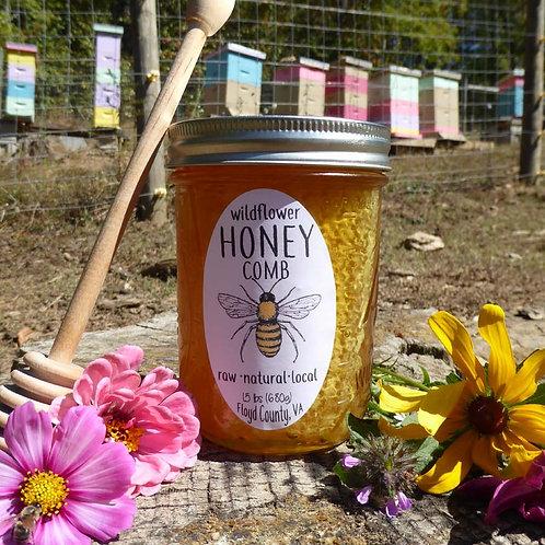 Comb Honey in pint jar1.5 lbs