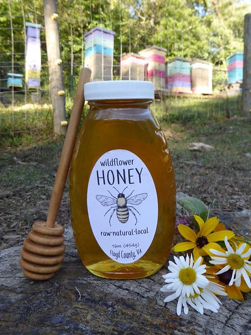 Pure Raw Wildflower Honey- 8oz bottle