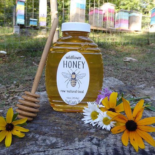 Pure Raw Wildflower Honey- 16oz bottle