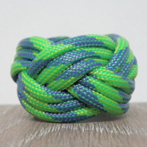 Green Stripe Small Paracord Scout Woggle
