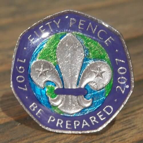 Enamelled Centenary of Scouting Woggle - Purple
