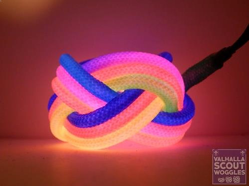 Equal Rights Rainbow Luminescent Turks Head Scout Woggles