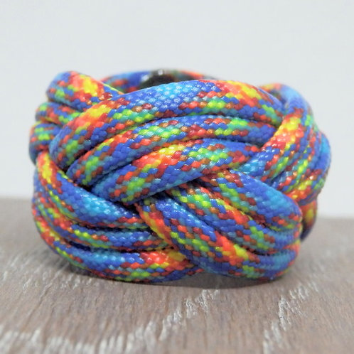 Fire and Ice Small Paracord Scout Woggle