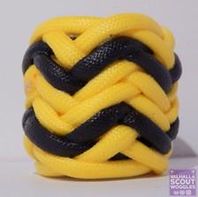 Yellow and Black Herringbone Scout Woggle