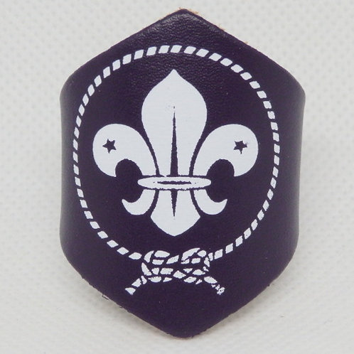 World Scout Leather Scout Woggle