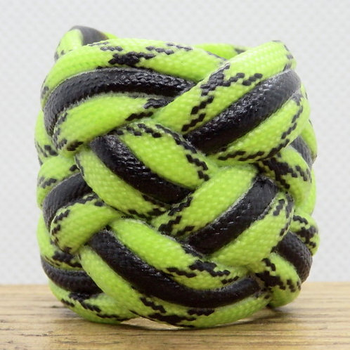 Toxic Lima and Black Large Paracord Scout Woggle