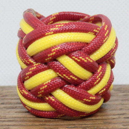 Sunburst and Yellow Large Paracord Scout Woggle