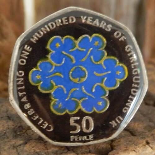 Enamelled Centenary of Guiding Woggle - Black and Blue