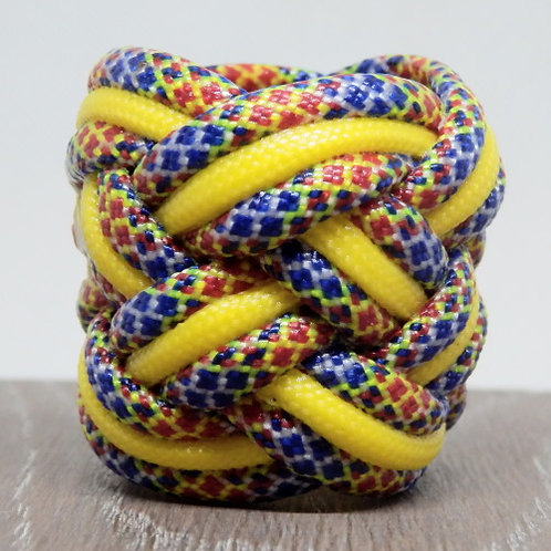 Joker Diamonds and Yellow Large Paracord Scout Woggle