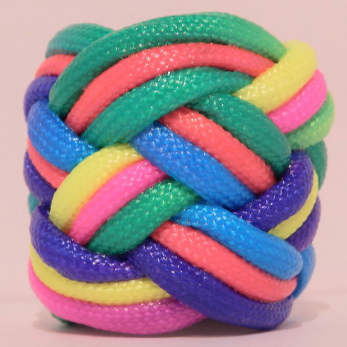 Equal Rights Rainbow Large Paracord Scout Woggle