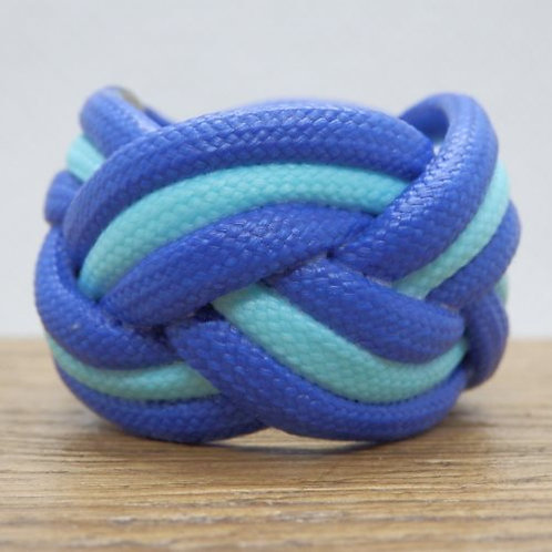 Blue and Glow in the Dark Baby Blue Small Paracord Woggle