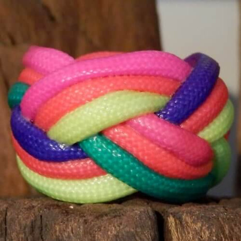 Equal Rights Rainbow Small Paracord Woggle